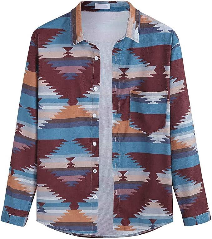 Chevalier - Camisa para Hombre de algodón de Manga Larga para otoño e Invierno, de Terciopelo Lateral, Estilo Retro, para Ocio, a la Moda Rojo M: Amazon.es: Ropa y accesorios