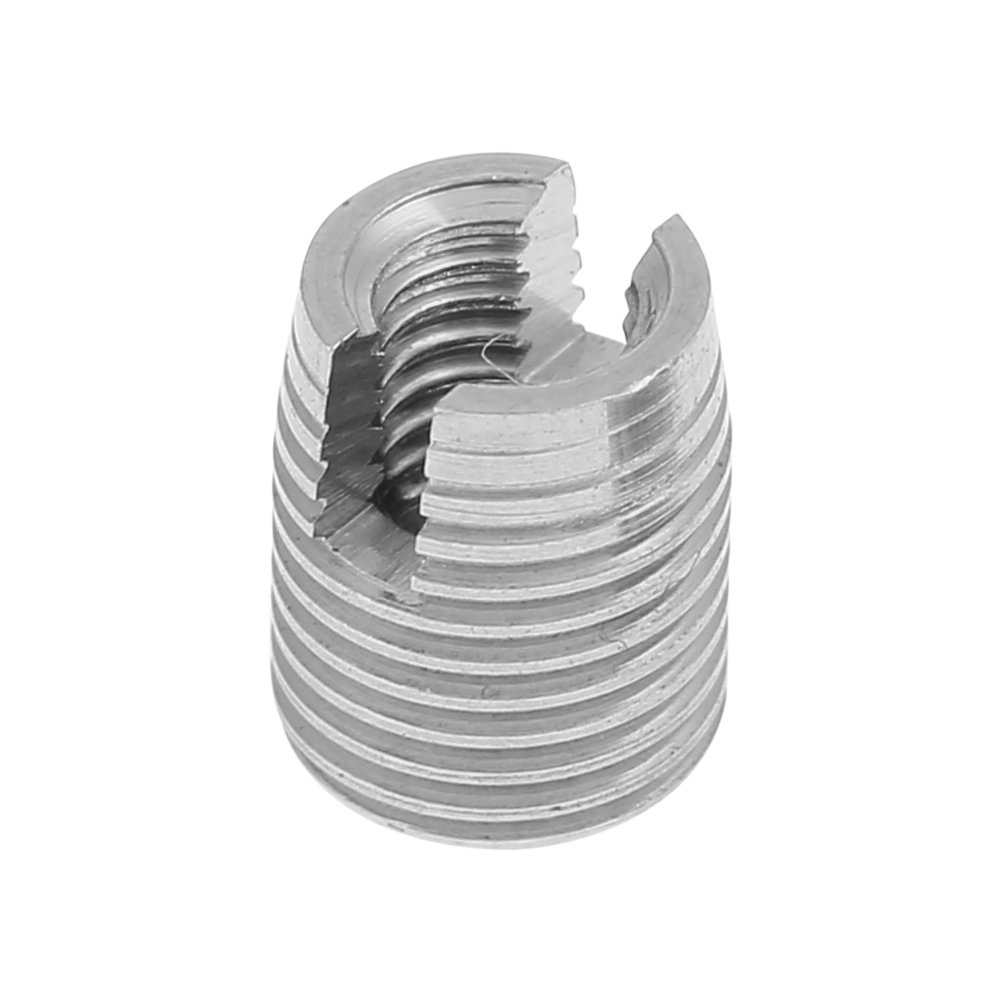 20Pcs a Set Threaded Inserts,Stainless Steel SUS303 Self Tapping Slotted Screw Thread Insert M3 x 6mm
