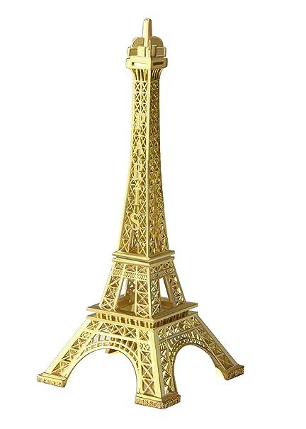 JoyFamily Eiffel Tower Decor, 7Inch (18cm) Metal Paris Eiffel Tower Statue  Figurine Replica