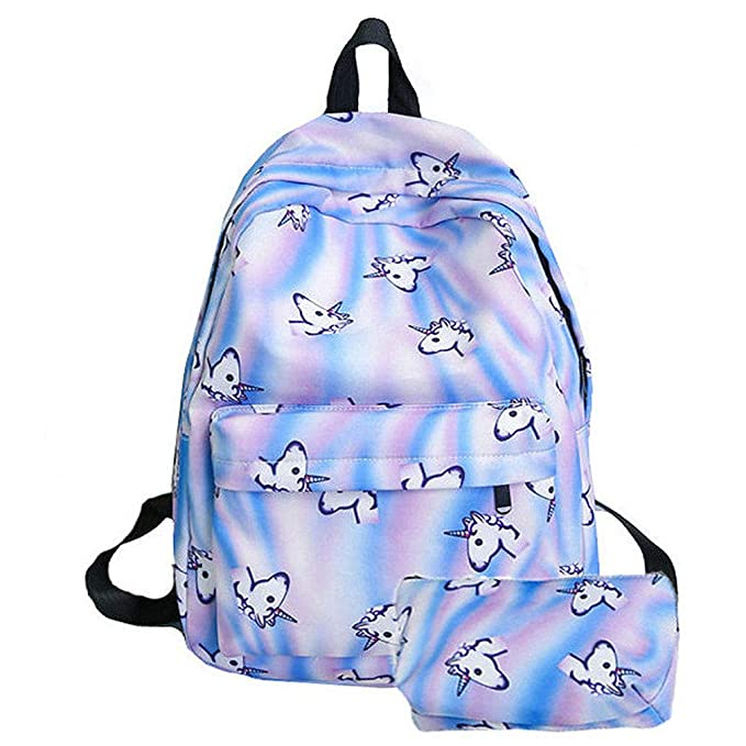 1c78d1e17c1 Amazon.com: Fashion Women Unicorn 3D Printing Backpacks Travel ...