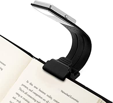 1 X LED Clip-On LED Book Reading Light Clip On Torch Travel Lamp Flexible Use