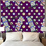 GLORY ART NEW Bingo Wall Hanging, Psychedelic Wall Art, Dorm D¨¦cor Beach Throw, Indian Wall Tapestries Art 60 x 90 Inches