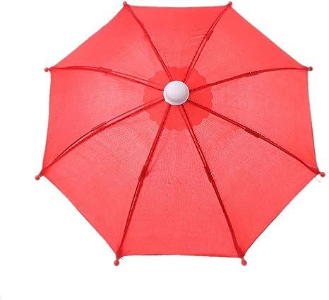 Mini paraguas colorido Vivianu 18 pulgadas accesorios de mu/ñeca 8 equipo de lluvia para mu/ñeca americana