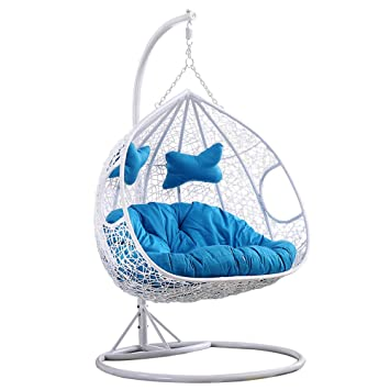 Amazing Amazon Com Lejzh Hanging Egg Hammock Chair Rattan Swing Theyellowbook Wood Chair Design Ideas Theyellowbookinfo