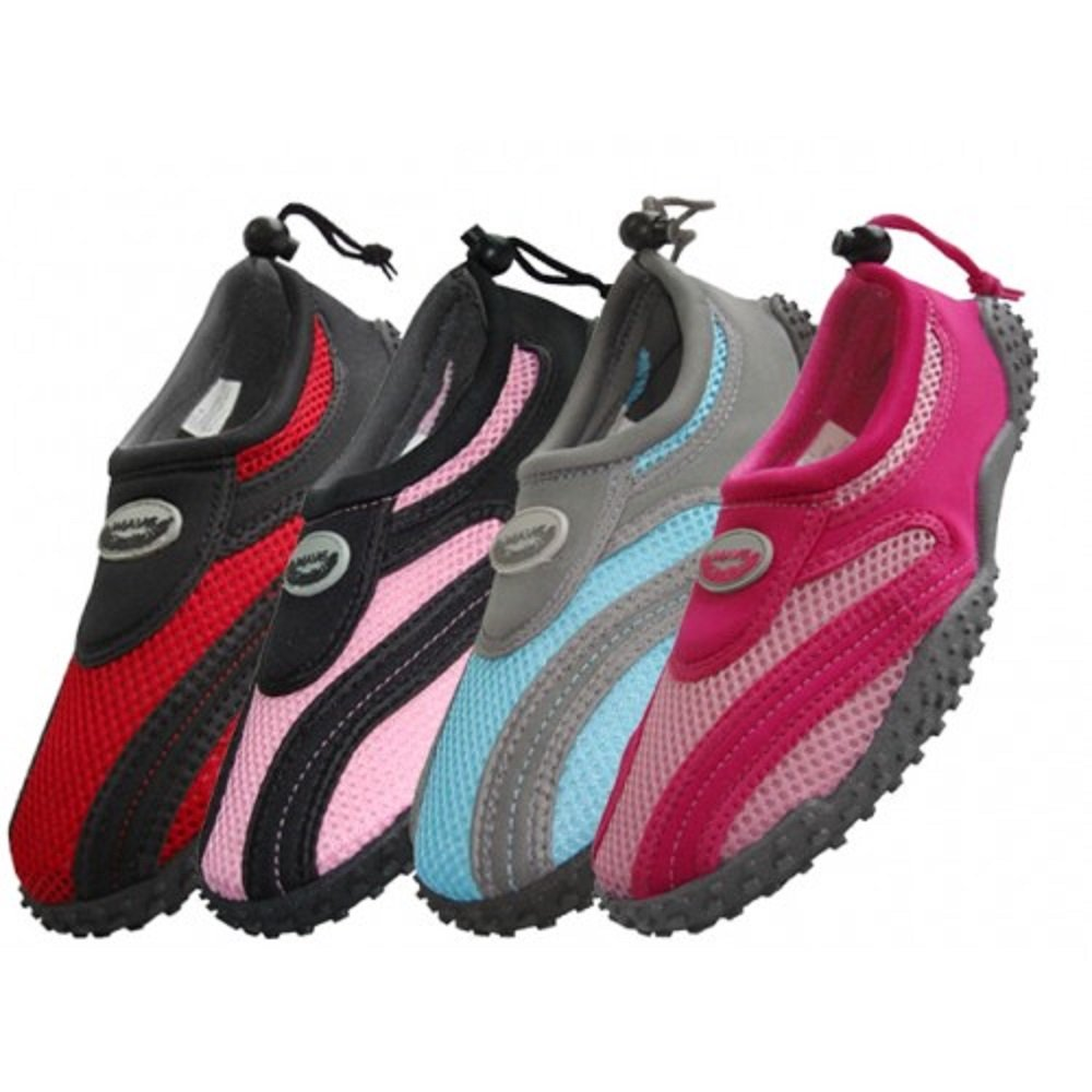 Wholesale Women's Wave Aqua Socks multiple sizes , swimming, pool beach water shoes (6-11)
