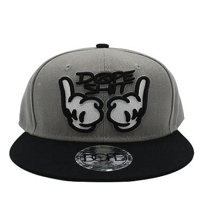 651feff1d4d Amazon.com  Maggift Embroidery Flat Bill Baseball Hats Snapback Hip Hop Cap