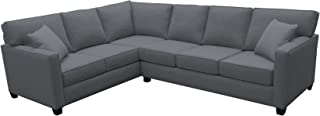 product image for BuildASofa Canwick Large L Sectional - Left Facing (Bennett Charcoal)