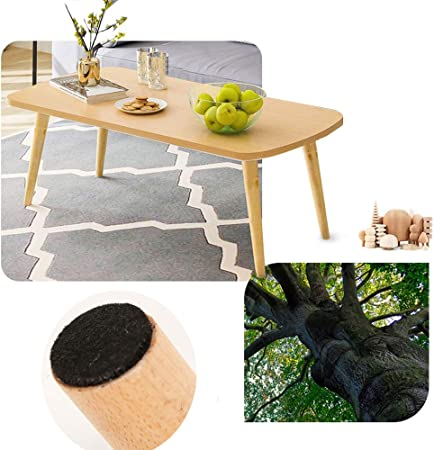Nordic Small Coffee Table Living Room Table Modern Cocktail Table Tea Table Mdf Desktop Solid Wood Leg Rounded Design Side Table For Home Dining Room Amazon Co Uk Kitchen Home