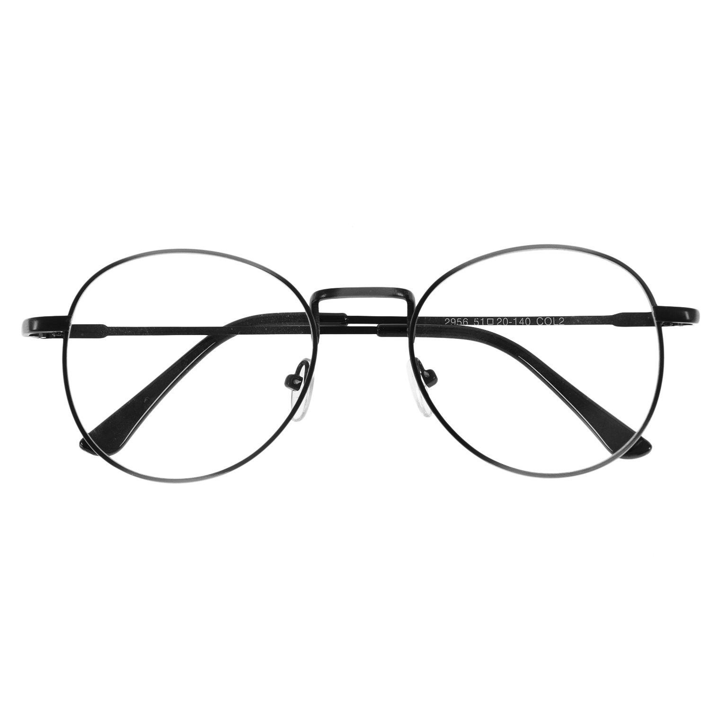 forepin reg  Lunette de Vue Femme Homme Unisex Vintage Retro Monture  Metalique Mode Fashion Eyeglasses a30831be5f0