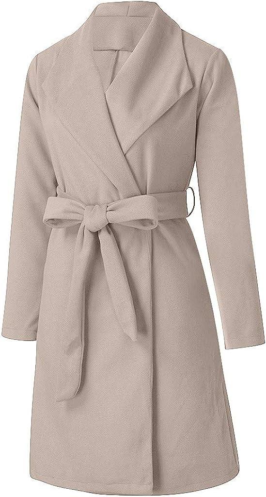 aihihe Womens Long Coat Jacket Open Front Cardigan Lapel Coats Parka Winter Long Sleeve Jackets Outwear with Pockets
