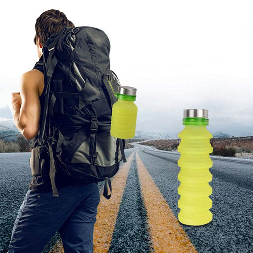 Fitness -Portable Royal Brands Camping Traveling Expandable Water Bottle Silicone Sports Bottle Collapsible Soft Water Bottle