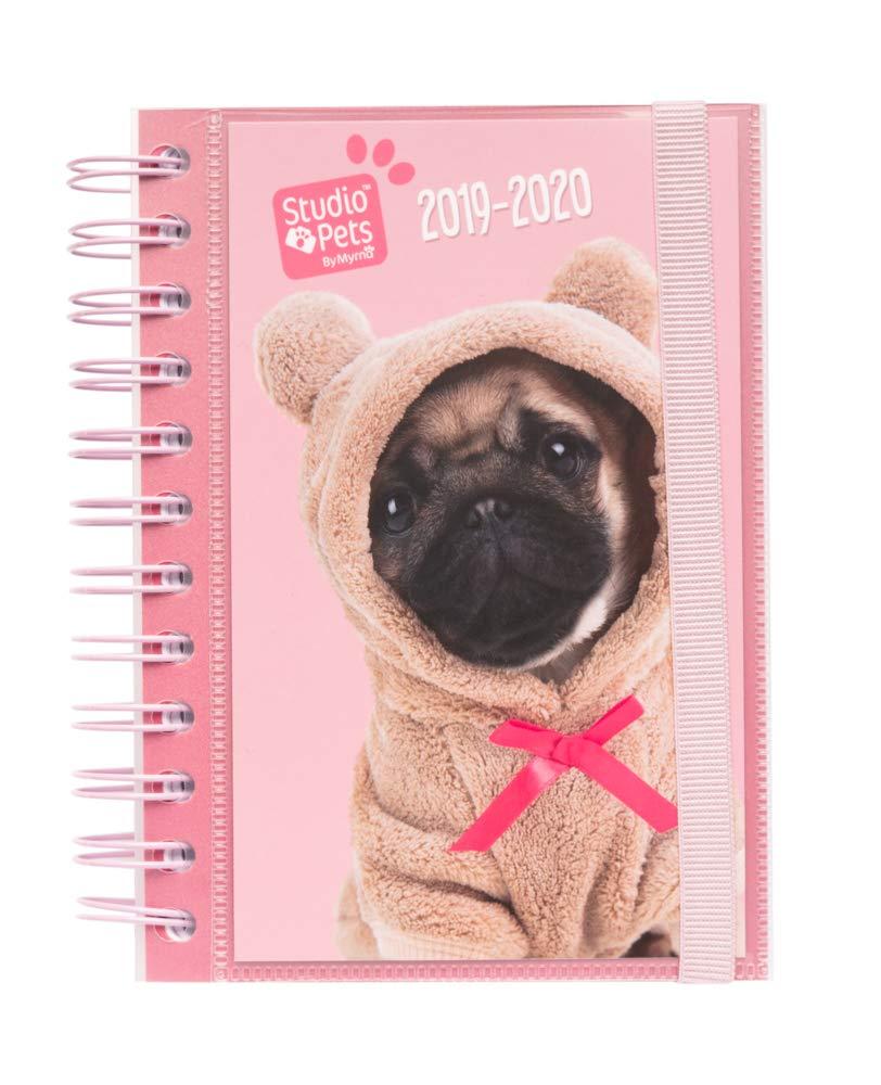 Erik/® Studio Pets Dogs 10 mesi Diario Scuola con Planner Giornaliero 2019//2020