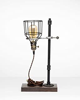 product image for Pipe Industrial Table-Top Desk Lamp Made in America (Euclid Lamp)