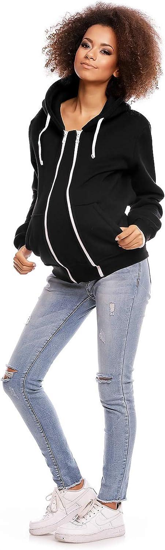 Made in EU Selente Mummy Love Damen Kapuzenpullover//Langarmshirt zum Stillen und als Umstandsmode aus 100/% Baumwolle f/ür Schwangerschaft und Stillzeit