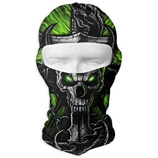 Balaclava Full Face Mask Chain Skull Skeleton Windproof UV Protection Neck Hood Ski Mask for Motorcycle Cycling Outdoor Sports