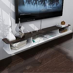 ZPWSNH Consola de TV Flotante para Montar en la Pared para Audio/vídeo, TV: Amazon.es: Hogar