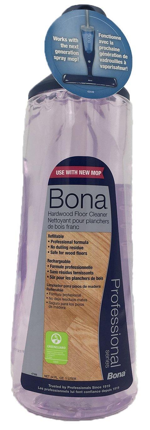 Bona Pro 33 Oz Hardwood Floor Cleaner Refill Cartridge, Premium No-Residue Formula, Ready-to-Use Cartridge For Bona Hardwood Floor Spray Mop, Cleans Dirty, Smudged Wood Floors (Pack of 3) by Bona (Image #3)