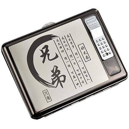 BCXBCX Caja de Cigarrillos, Caja de Cigarrillos con Carga ...