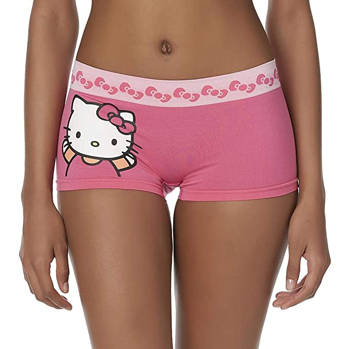 903d33bc5c16 Women's Classic Characters Boyshorts Mickey Mouse, Hello Kitty, Disney  Princesses, Hello Kitty Pink, Size Small at Amazon Women's Clothing store: