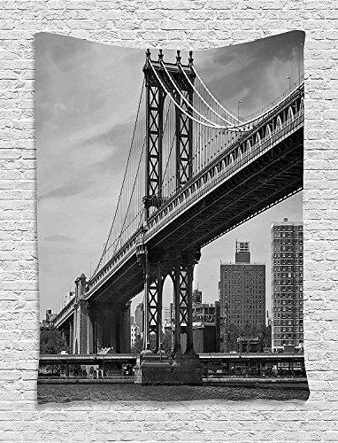 Supersoft Fleece Throw Blanket New York Bridge of NYC Vintage East Hudson (Led Zeppelin Print Tank Top)