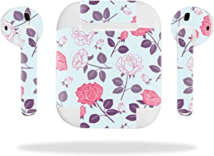 MightySkins Skin Compatible with Apple AirPods - Vintage Floral | Protective, Durable, and Unique Vinyl Decal wrap Cover | Easy to Apply, Remove, and Change Styles | Made in The USA