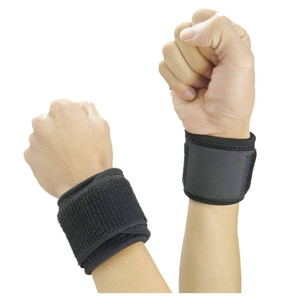 Adjustable Compression Wrist Strap/Wrist wrap/Wrist Brace/Wrist Support - Weight Lifting, Xfit, Powerlifting, Strength Training,Volleyball Badminton Tennis Basketball Weightlifting