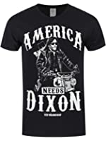 The Walking Dead Men39;s America Needs Dixon T-shirt Black