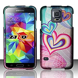 For Samsung Galaxy S5 - Rubbeirzed Design Cover - Heartception