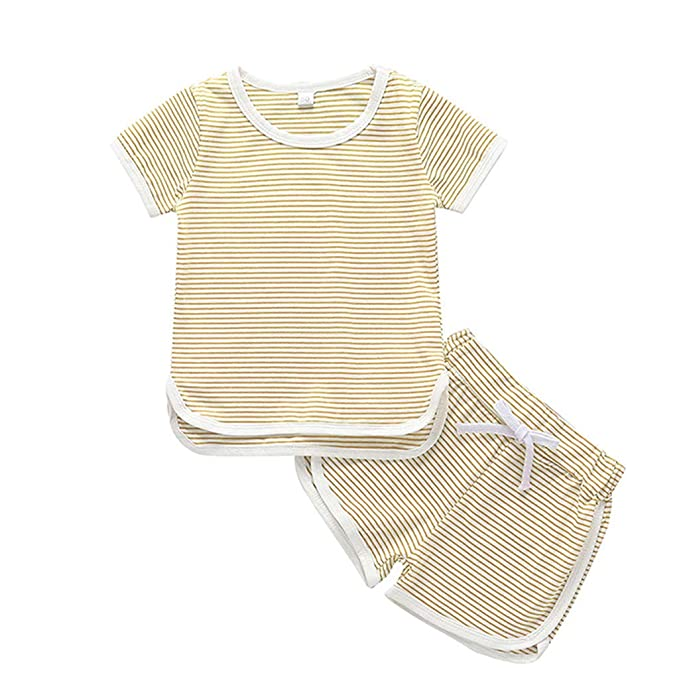 Bebe Conjunto de Camiseta y Pantalones Cortos para niñas ...