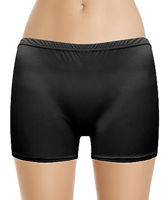 52eccb1dcdfae Marvoll Women's Lycra Spandex Neon Hot Pants Short Skirt Dance Party  Underwear (Kids Small,