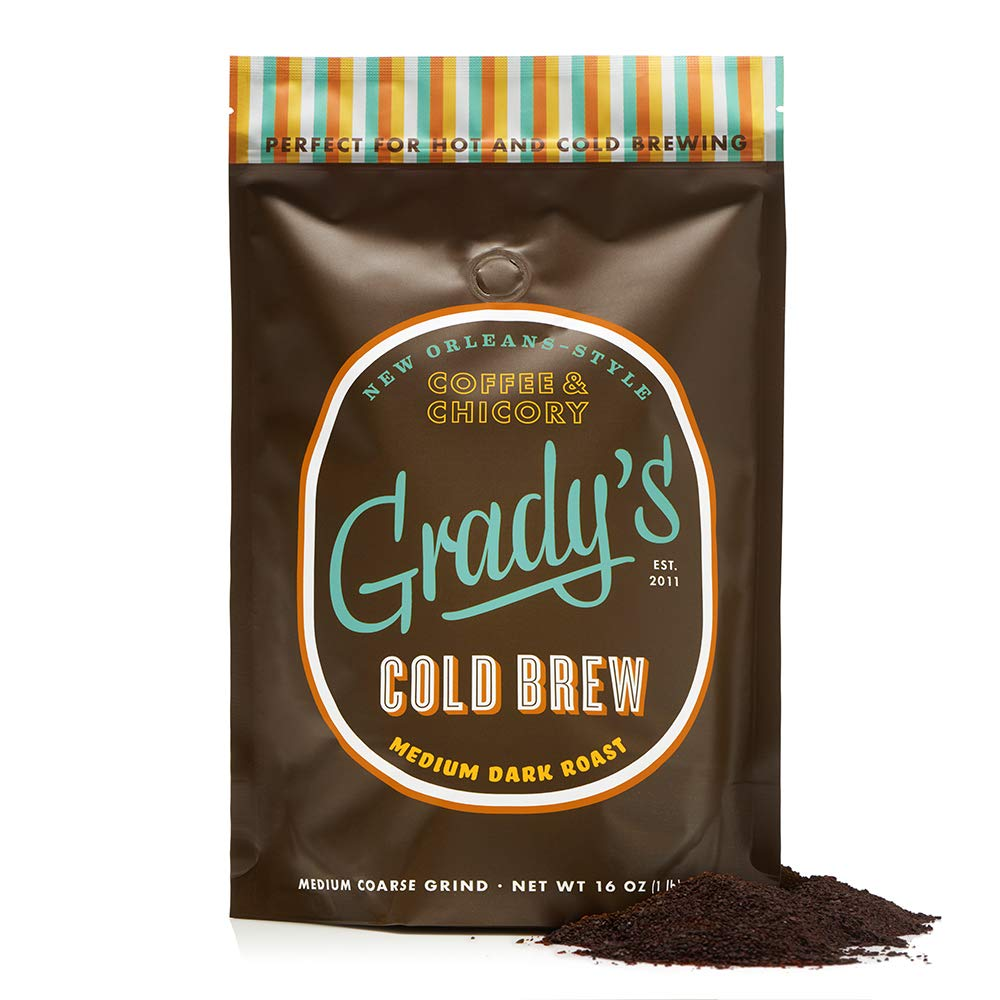 Grady's Cold Brew Coffee, 16oz. Loose, Coarse Ground Coffee, 24 Total Servings, Regular