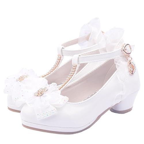 YOGLY Zapatos de Princesa de Bowknot Zapatos de Tacón Alto de Moda para  Niñas Zapatilla de Baile  Amazon.es  Zapatos y complementos f63a0ee020f46