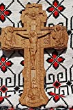 OAK Cross Wood Carving Crucifix Durable unique christian gift religious wall decor FREE SHIPPING