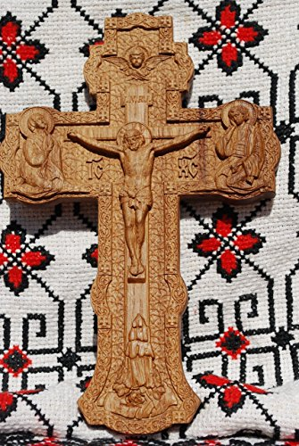 Crucifix Life (OAK Cross Wood Carving Crucifix Durable unique christian gift religious wall decor FREE SHIPPING)