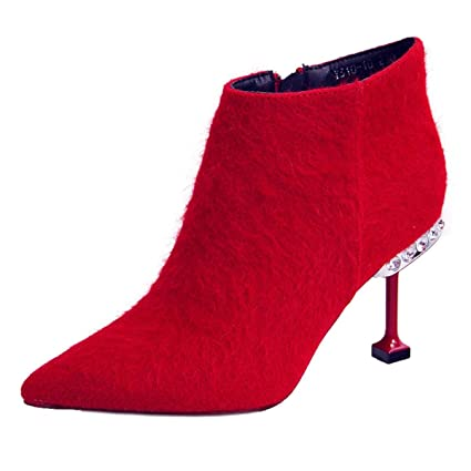 b47099a0c162b Amazon.com: GTVERNH Women's Shoes/Single Boots Fashionable Pointed ...