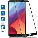 LG G6 Screen Protector Glass, JACNITAD G6 Tempered Glass Premium Full Coverage [Bubble Free] HD Ultra Clear Film Protection Shield Anti-Bubble Screen Protector for LG G6 (Black)