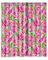 Fashion Press Flawless Gorgeous Creative Lilly Pulitzer Shower Retro Curtain  Shower 100% WaterProof Polyester Fabric