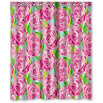 Fashion press Flawless Gorgeous Creative Lilly Pulitzer Shower Retro Curtain  Shower 100% WaterProof Polyester Fabric 60