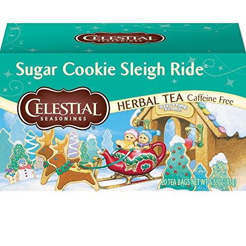 (Celestial Seasonings Herbal Tea, Sugar Cookie Sleigh Ride, 20 Count Box (Pack of 6))