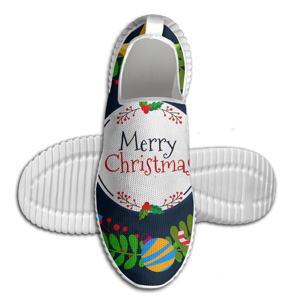 メンズ軽量Road Running Shoes Merry Christmas No Tieエアメッシュ通気性アウトドアスポーツソフトアスレチックスニーカー 40 ブラック eroegrh781-21287324 B0784K3Y5G