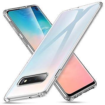 a20e90d3ca8 ESR Funda para Samsung Galaxy S10, Funda Essential Zero de TPU Suave  Transparente Delgada Compatible con Samsung Galaxy S10, Funda Suave de  Silicona ...