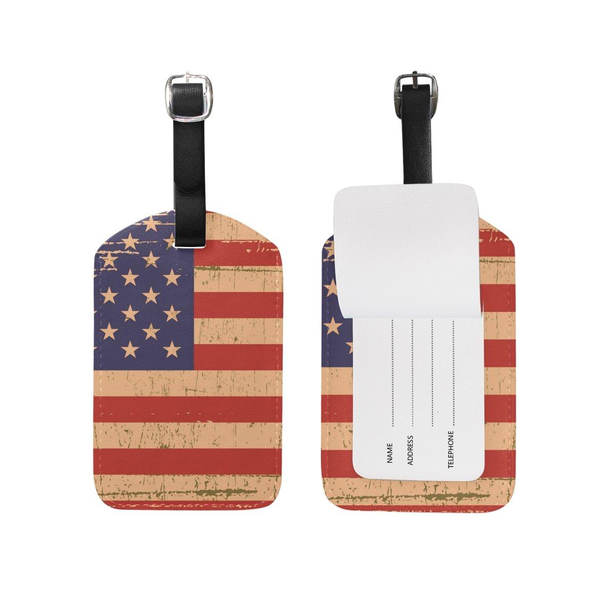 アメリカ国旗 グランジ荷物タグ   B07F139WD2