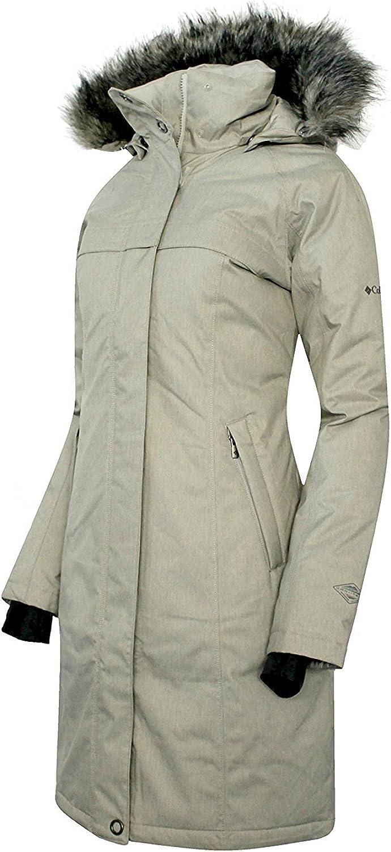 COLUMBIA Women's Flurry Run Down Long Omni Heat Jacket Coat Hooded Parka (XS)