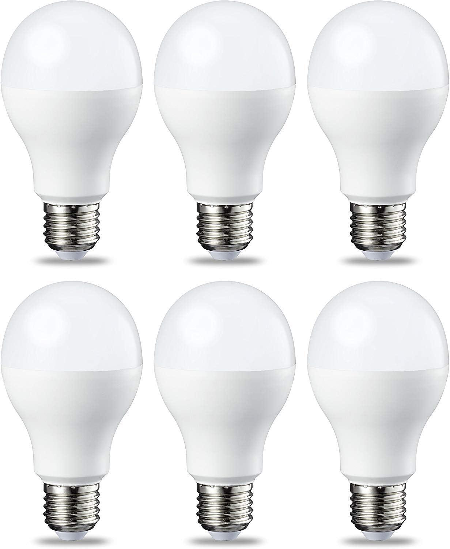 AmazonBasics Bombilla LED Esférica E27, 14W (equivalente a 100W), Blanco Frío - 6 unidades