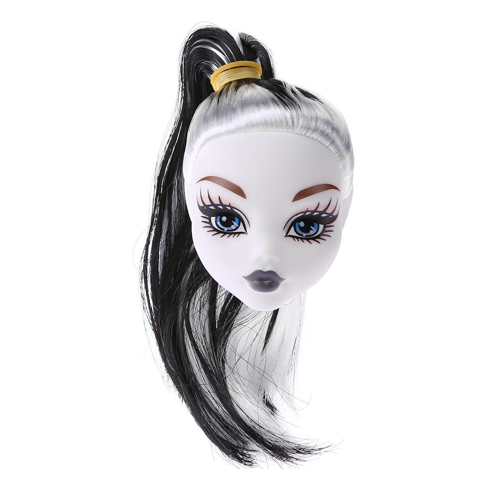 chinatera Cute Girls Doll Heads Colorful Demon Monster Wig Hair Decoration Kids Toys Accerssories