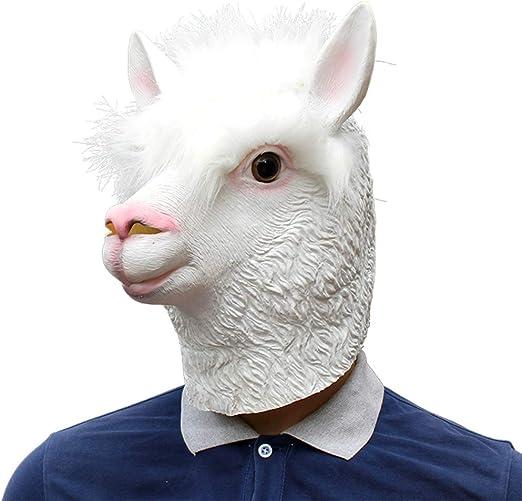 HLDWXN Máscara de Cabeza de Oveja Blanca Linda Divertida de ...