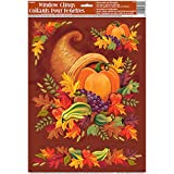 Fall Harvest Thanksgiving Window Cling Sheet