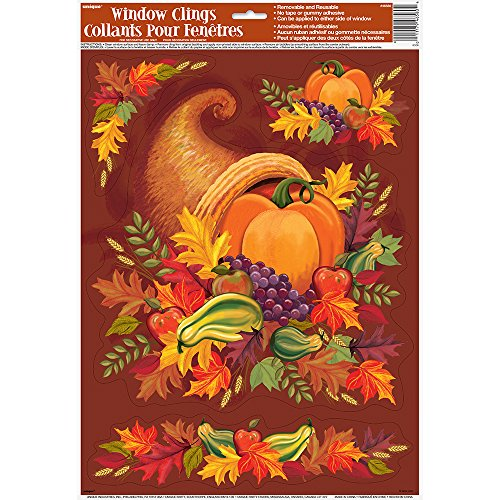 Harvest Thanksgiving Window Cling Sheet