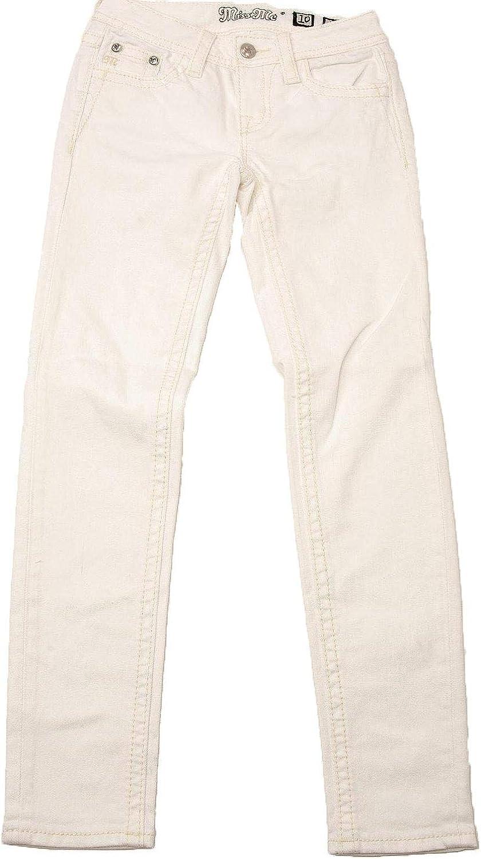 K3331s Miss Me Girls White Cross Skinny Jeans