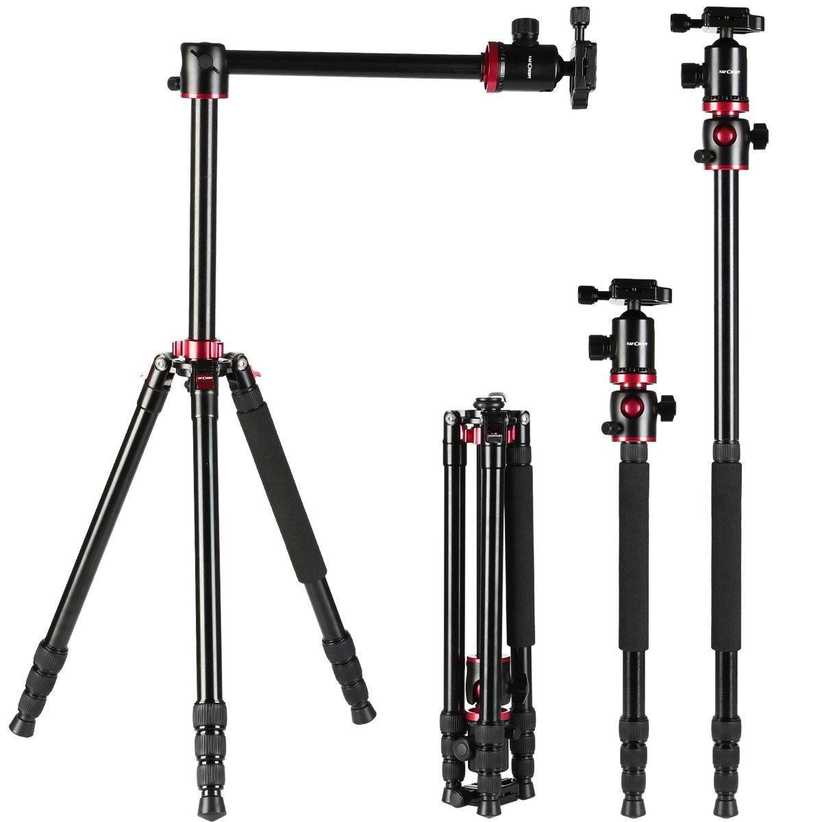 Moveski 66インチ ポータブルマグネシウムアルミニウム三脚一脚 360度ボールヘッドクイックリリースプレート付き キヤノン ニコン ソニー デジタル一眼レフカメラ DV   B0797RSVK6